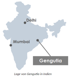 Landkarte Indien