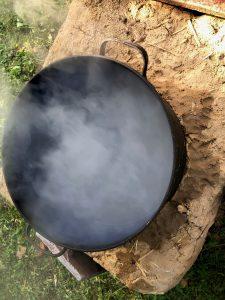 : Es dauerte zwar eine knappe halbe Stunde, aber dafür kochte das Wasser dann auch richtig.