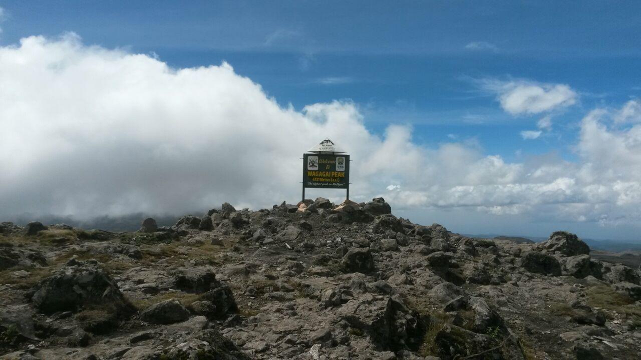 Die Spitze des Gipfels