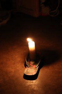 Kerzenschein gegen Stromausfall