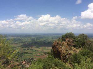 Aussicht vom Tororo Rock über die Region