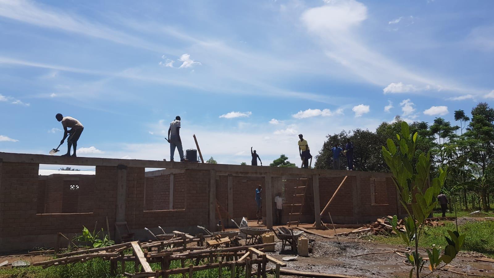 Vorbereitungen für die Dachkonstruktion