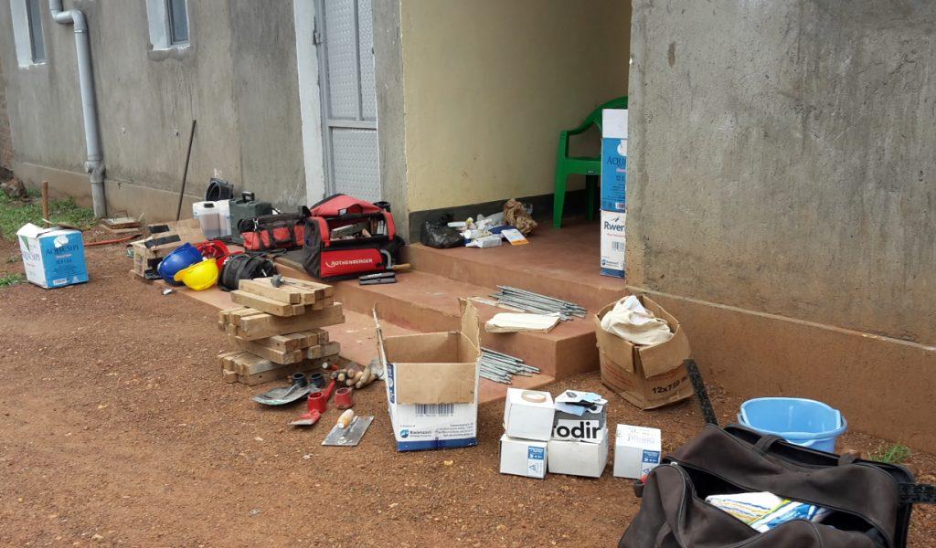 Alle Materialien und Werkzeuge wurden sortiert
