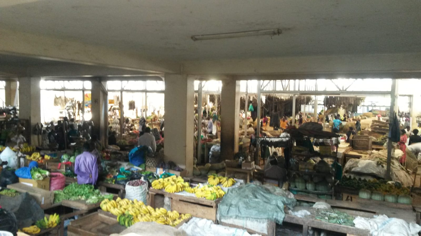 Die Markthalle in Mbale ist sehr sehenswert