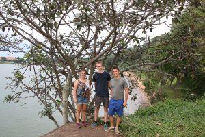 Abschied im botanischen Garten in Entebbe